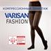 Изображение Колготки компрессионные Varisan Fashion укороченые черный 2 класса компрессии V-F24E5ч